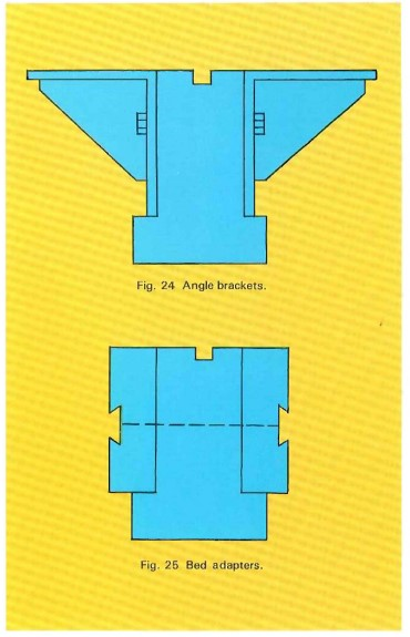 Angle brackets and bed adapters