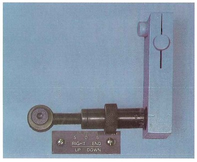 Front-operated. micrometer type, tilt adjustment