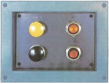 Ram direction buttons with indicator lights.