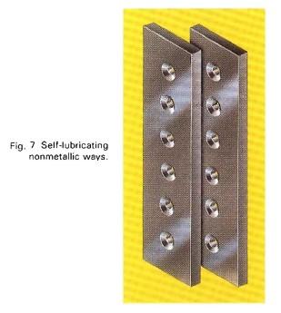 Self-lubricating non-metallic ways