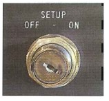 Set-up control selector switch
