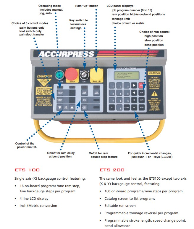 ETS-100-200 Controls